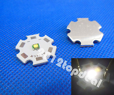 10pcs Cree XP-G XPG R5 5w White 4500k LED Emitter chip With 20mm star Base