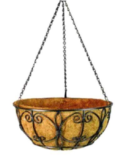 "ea Panacea 72848 16/"" Black Wrought Iron New Orleans Hanging Basket Planters 6"