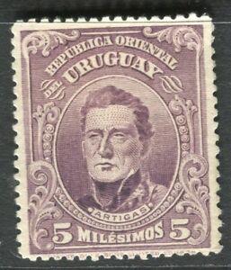 URUGUAY-1910-early-Artigas-issue-Mint-hinged-5c-value