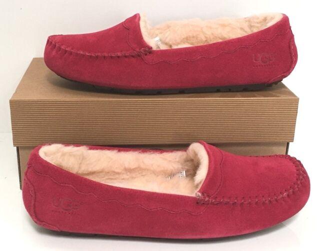bec155f3e752 UGG Australia 57322 Red 6 Women Moccasins Suede Slipper Shoes Burgundy Wine  6