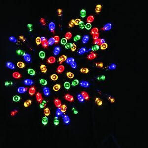 Image Is Loading Multicolor Festive Christmas String 100 Led Lights Battery