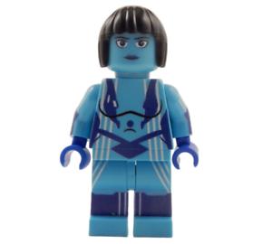 Master Chief Xbox Block Minifigure **NEW** Custom LIGHT BLUE HALO SPARTAN