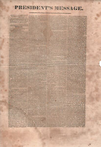 1828-JOHN-QUINCY-ADAMS-Broadside-STATE-OF-UNION-New-Bedford-MASSACHUSETTS