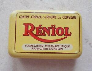 Ancienne-boite-Metal-Le-Reniol-Publicite-Pharmacie-Collection-Tin-Box-France