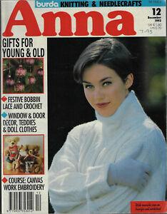 Anna Burda Knitting /& Needlecrafts magazine October 1992 embroidery marionettes