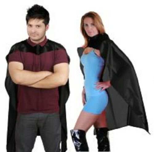 Wicked Fun Dracula Deluxe shiny satin Cape Fancy Dress Free Post 24,34,48 Inc