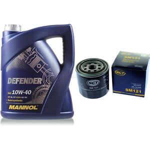 Olwechsel-Set-5-Liter-MANNOL-Defender-10W-40-SCT-Olfilter-Service-10164119