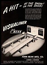 1947 John Bean Lansing Michigan Visualiner Wheel Aligner Amp Balancer Print Ad