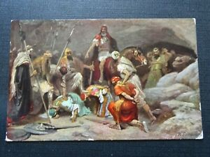Cpsm-HISTORY-Sainte-the-Five-Kings-Object-in-a-Cave-in-Makkeda-Brought