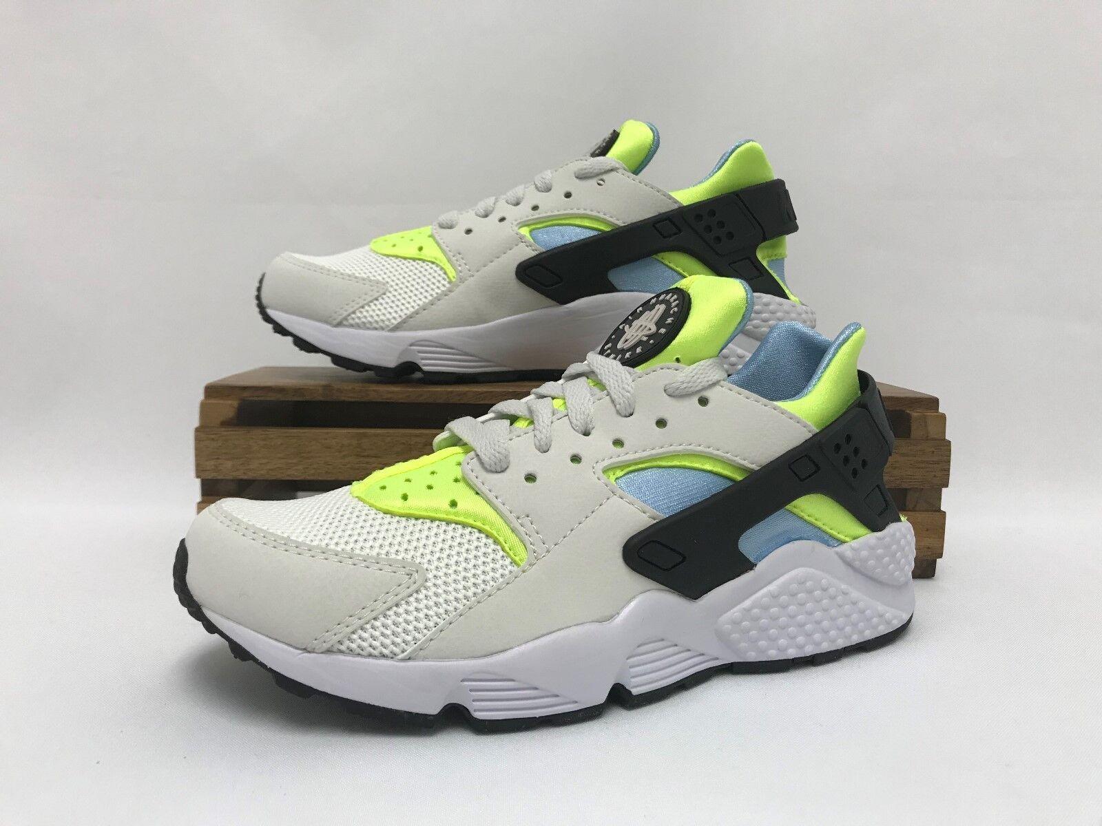 sale retailer f6559 6dab6 Nike huarache huarache huarache correr running Zapatos Blanco Volt Teal  318429-107 hombres es comodo
