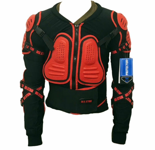 BMX Cycling Bike Ride Protective XT Edge Kids Body Armour CE Approved Red New