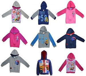 Disney-amp-Kids-TV-Character-Jumper-Tops-Cardigans-Hoodie-Clothing-Brand-New-Gift