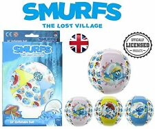 """Official Smurfs The Lost Village Kids Inflatable Swimming Beach Ball 18"""""""