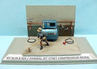 "M.M.B / KIT RESINE / 029 ANNIBAL DIT "" O' NET  "" ET COMPRESSEUR MURAL 1/43"