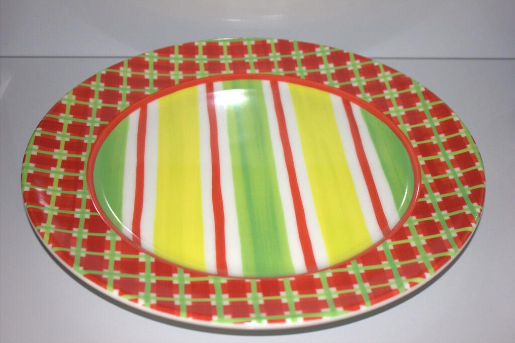 Rosanthal CASUAL Designers Guild PLATZTELLER 31,5 cm cm cm Rot grün gelb   Elegantes Aussehen  1be422