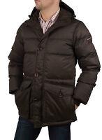Napapijri Men's Winter Jacket Down Jacket Parka Brown Rif50