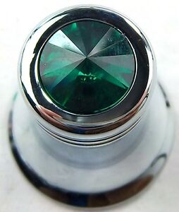 CB radio knob channel green jewel for Peterbilt Kenworth Freightliner Cobra CB