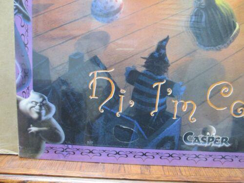 "Vintage 1995 Casper the Friendly Ghost poster /""Hi i/'m Casper/"" movie  12395"