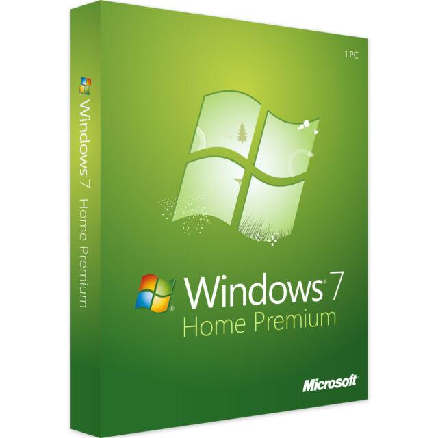 Microsoft Windows 7 Home Premium 32/64bit Vollversion Betriebssystem