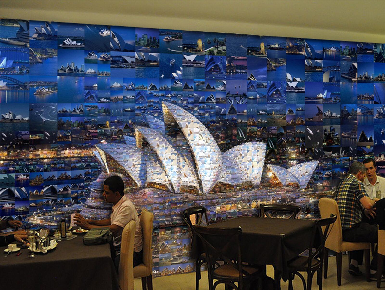 3D Sydney Oper 4 Fototapeten Wandbild Fototapete Bild Tapete Familie Kinder