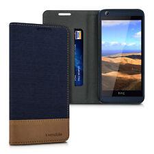 kwmobile Flip Hülle für HTC Desire 626G dunkelblau Braun Schutzhülle Cover Case