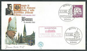 1980 Vaticano Viaggi Del Papa Germania Bonn - Sv ImperméAble à L'Eau, RéSistant Aux Chocs Et AntimagnéTique
