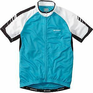 Madison Peloton men's short sleeve jersey, hawaiian bluee X-large bluee