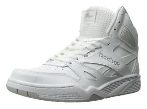 2280fb8ef867 Reebok Royal BB4500 Hi White Steel Mens Basketball Tennis Shoes Item ...