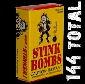 (144) 4 cases of 36 - STINK BOMBS - Glass Vials - Fart Bomb Gag Rotten Egg Crap