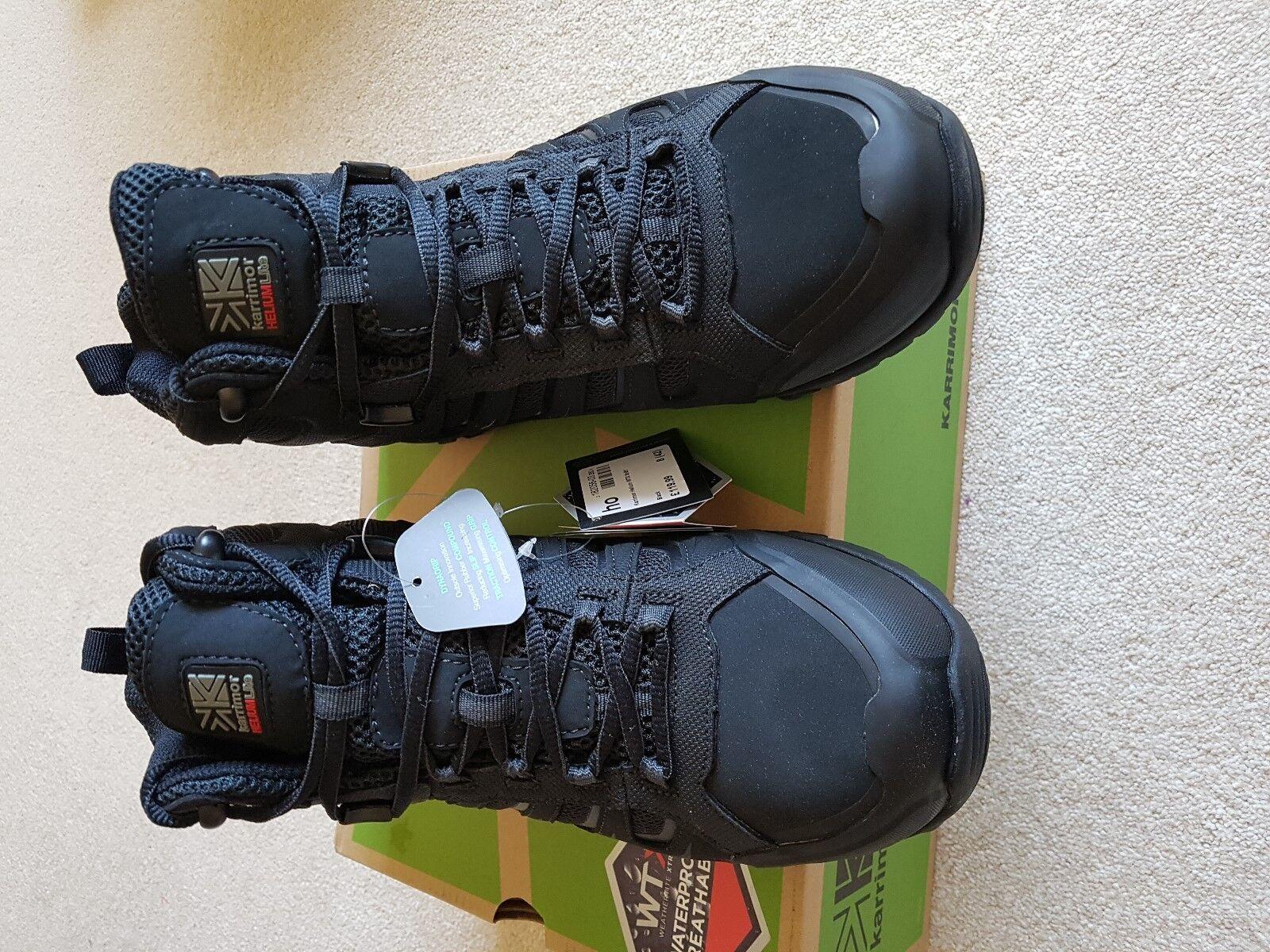 Mens BNWB Karrimor Helio Negro Impermeable Caminar botas
