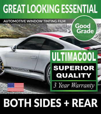 UC PRECUT SUN STRIP WINDOW TINT FILM FOR SMART FORTWO FOR2 CABRIOLET 08-15
