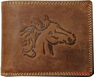 Hochwertige-Geldboerse-Geldbeutel-Portemonnaie-Bueffel-Leder-Pferd-Wild-Boerse