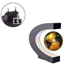 schwebender deko globus weltkugel schwebeglobus mit beleuchtung gold ebay. Black Bedroom Furniture Sets. Home Design Ideas