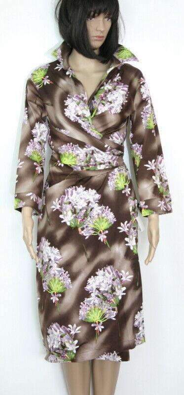 Samantha Sung Sloan Dress Nile Lilies Sepia Größe 8-US