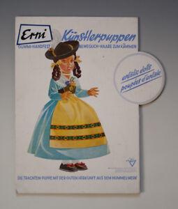 ALTES-Pappschild-Erni-Kuenstlerpuppen-Hummel-Werk-um-1950