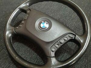 BMW 5-Series E39 Original Steering Wheel AIRBAG Multifunction Leather E38 X5