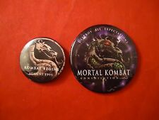 Mortal Kombat Movie 1995 & MK Annihilation Promotional Button Pin Back Promo