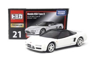 Tomica-premium-DIECAST-maqueta-de-coche-1-60-nr-21-Honda-NSX-Type-R-blanco-Takara-Tomy