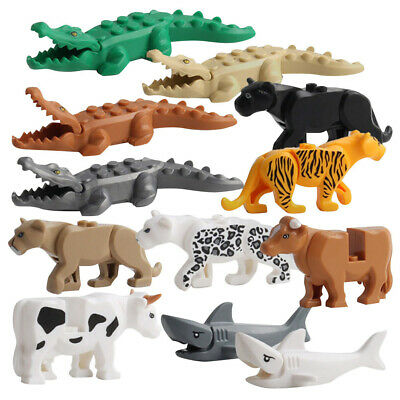 Buildable LEGO Crocodile 12pc Fit Model Building Block Kids Animal For Cow Tiger