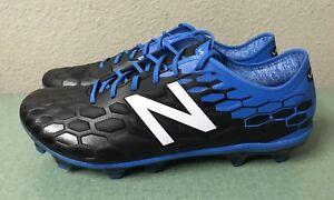 885ab495fe986 New Balance Visaro 2.0 Pro FG Mens Sz 10.5 D Black Blue Leather ...