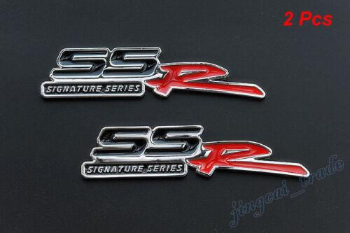2x Black SSR Signature Series Logo Metal Car Auto Emblem Badge for Sonic Chevy