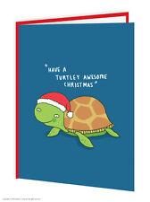 Brainbox Candy Christmas Xmas cards funny novelty joke humour turtle awesome
