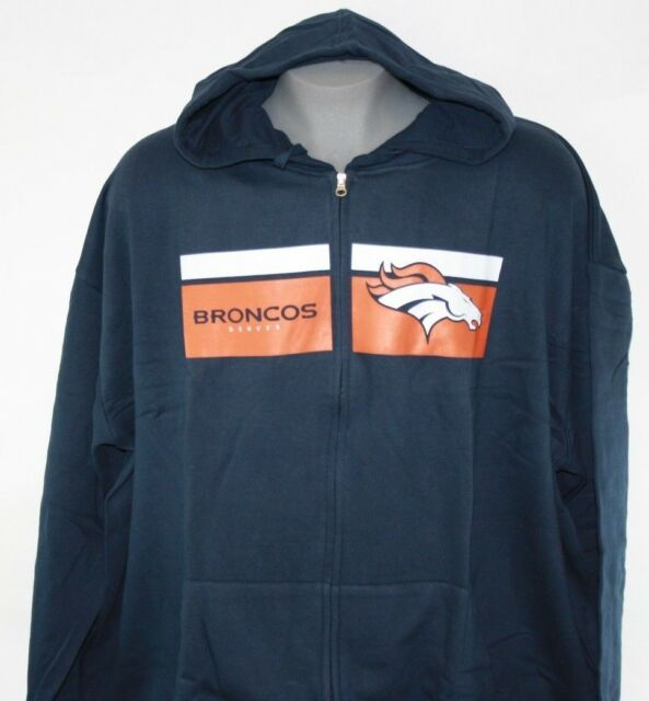038e42d2 Majestic Denver Broncos Navy Big & Tall Touchback Full-zip Hoodie 5xb