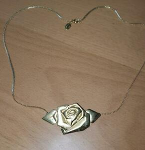 Authentic-Vintage-One-Direction-Golden-Rose-Pendant-Necklace