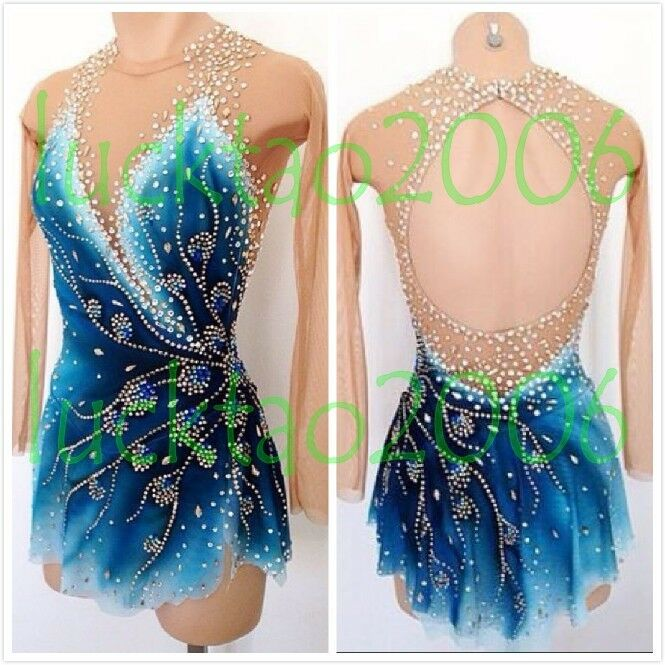 New style Ice Skating Dress Figure skating Gymnastics Baton Twirling Dress 80020