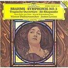 Johannes Brahms - Brahms: Symphonie No. 3; Tragische Ouvertüre; Alt-Rhapsodie (1995)
