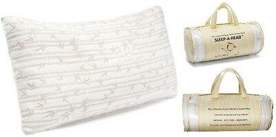 2 PACK: Memory Foam Bamboo Gel Pillow by Clara Clark -Available in King or Queen