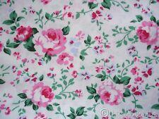 Stoff Baumwolle ♥ Rosen Englische Röschen rosa pink grün rosali REDUZIERT