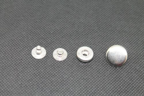 Metall Rostfrei Druckknöpfe 15 mm Ø Anorak inklusive Werkzeuge und Anleitung