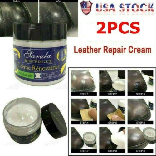 Leather Repair Filler Compound Cream Leather Restoration Cracks Sofa Hole~